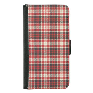 Red and Black Plaid Pattern Samsung Galaxy S5 Wallet Case