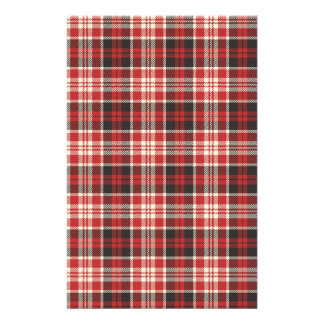 Red and Black Plaid Pattern Stationery