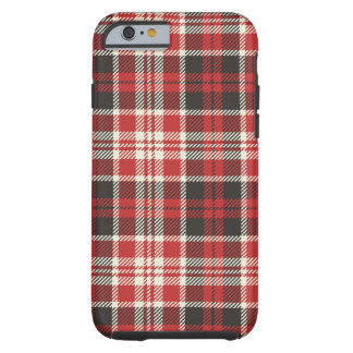 Red and Black Plaid Pattern Tough iPhone 6 Case