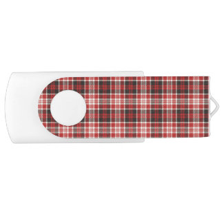 Red and Black Plaid Pattern USB Flash Drive