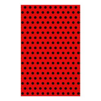 Red and Black Polka Dot Pattern. Spotty. 14 Cm X 21.5 Cm Flyer