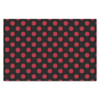 Red and black polka dots tissue paper