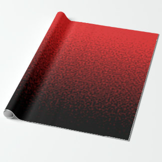 Red and Black Rippled Gradient Wrapping Paper