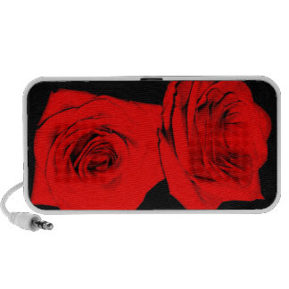 Red and Black Roses Laptop Speakers