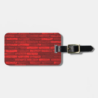 Red and Black Rustic Aging Brick Wall Luggage Tag