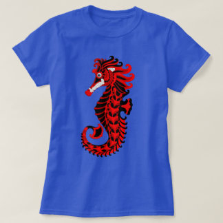 Red and Black Seahorse T-Shirt
