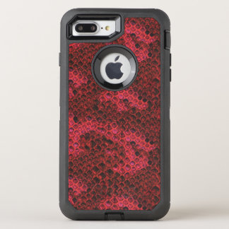Red and Black Snake Skin OtterBox Defender iPhone 8 Plus/7 Plus Case