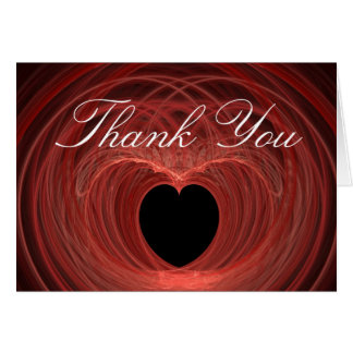 Red and Black Spiraled Heart Card