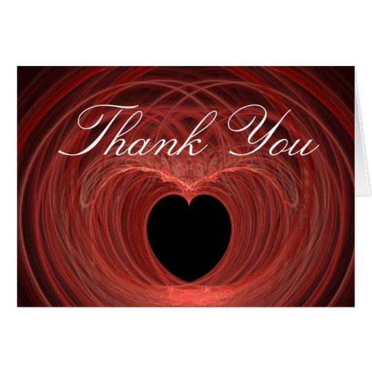 Red and Black Spiralled Heart Card