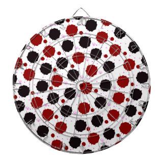 Red and Black Splash Dots Dartboard