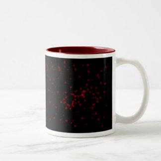 red and black starry night sky Two-Tone coffee mug