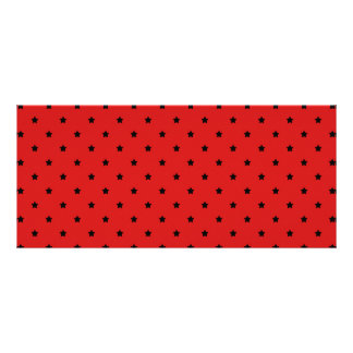 Red and Black Stars Pattern. Full Color Rack Card