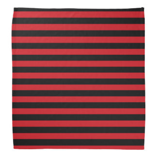 Red and Black Stripes Bandanna
