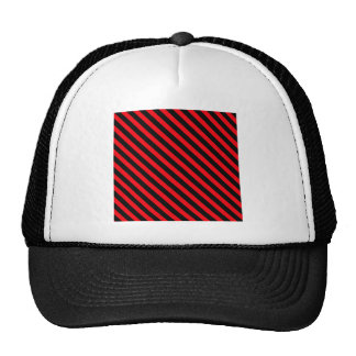 Red and Black Stripes Mesh Hats