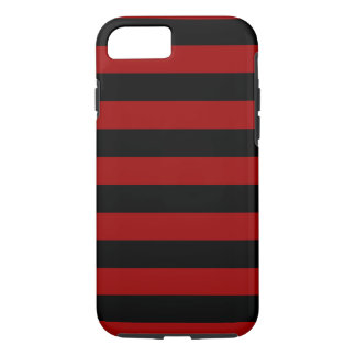 Red and Black Stripes Horizontal iPhone 7 Case