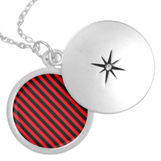 Red and Black Stripes Necklace