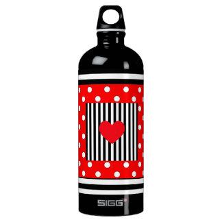 Red and black stripes, polka dots water bottle SIGG traveller 1.0L water bottle