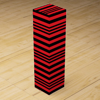 Red and Black Stripes X 3 Wine Gift Box