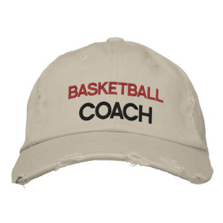 Red and Black Text Coach Customizable Hat Embroidered Hat
