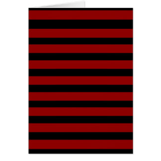 Red and Black Thick Striped Layer Pattern Greeting Card