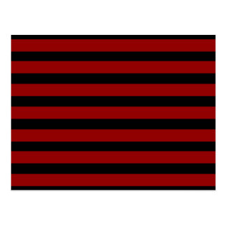 Red and Black Thick Striped Layer Pattern Postcard