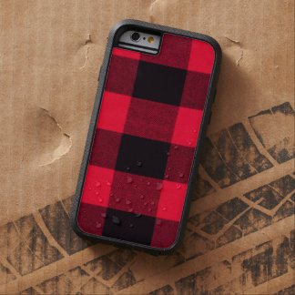 Red and Black Trendy Buffalo Plaid Tough Xtreme iPhone 6 Case
