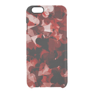 Red and Black True Love Hearts Emotion Clear iPhone 6/6S Case
