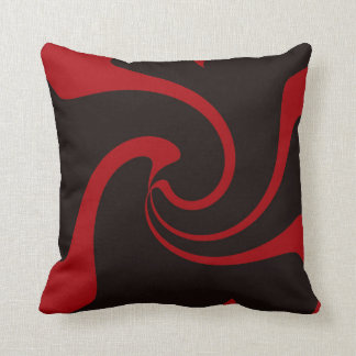 Red and Black Twist Throw Pillow