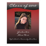 Red and Black Wave Graduation Announcement
