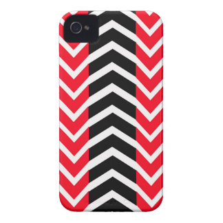 Red and Black Whale Chevron iPhone 4 Case