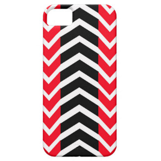 Red and Black Whale Chevron iPhone 5 Cases