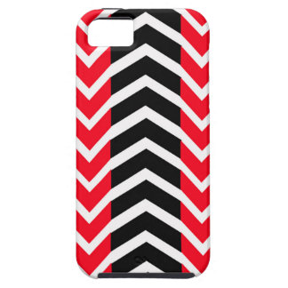 Red and Black Whale Chevron iPhone 5 Cover