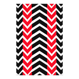 Red and Black Whale Chevron Stationery