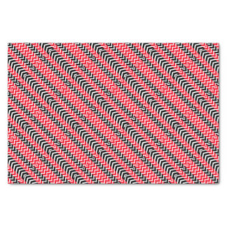 Red and Black Whale Chevron Tissue Paper