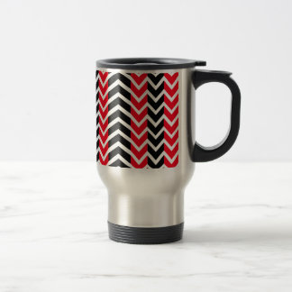 Red and Black Whale Chevron Travel Mug