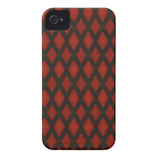 red and black with diamond pattern Blackberry Case