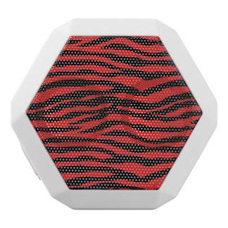 Red and Black Zebra Stripes White Boombot Rex Bluetooth Speaker