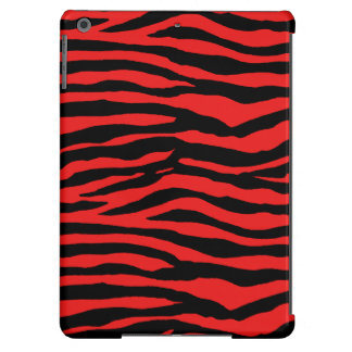 Red and Black Zebra Stripes Cover For iPad Air