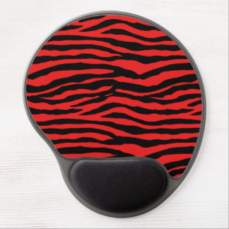 Red and Black Zebra Stripes Gel Mousepad