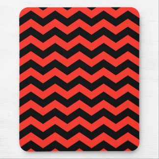 Red and Black Zig Zags Mouse Pad