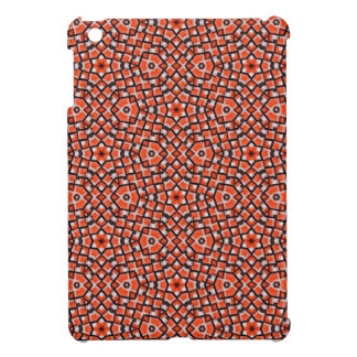 red and blackholiday print flower cover for the iPad mini