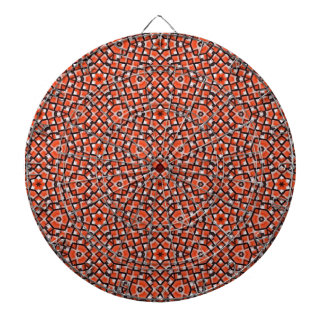 red and blackholiday print flower dartboard