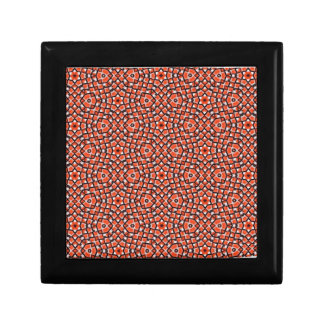 red and blackholiday print flower gift box