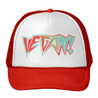 Red and Blue 1980s Rocker Vegan Cap