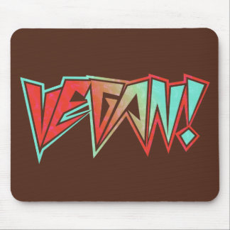 Red and Blue 1980s Rocker Vegan Mouse Pad