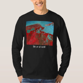 Red and Blue Art of Earth Tee Shirts