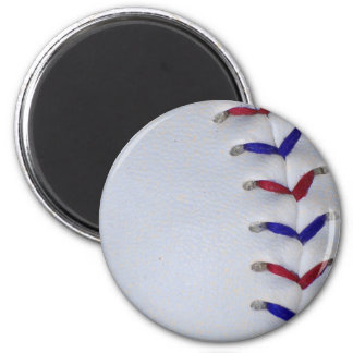 Red and Blue Baseball / Softball Stitches Refrigerator Magnets