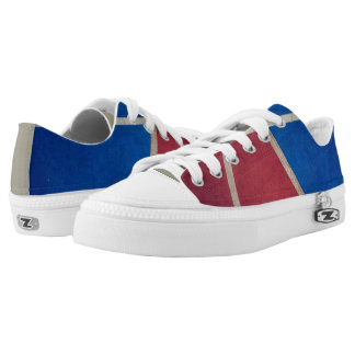 Red and Blue Basketball Court Design Sneaker