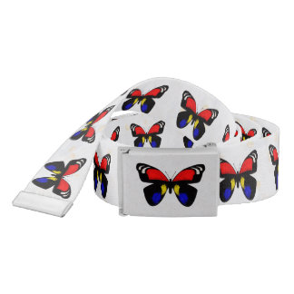 Red and Blue Butterflies Belt
