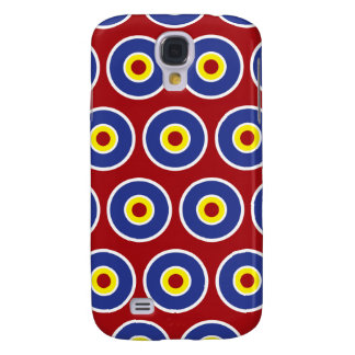 Red and Blue Concentric Circles Bullseye Pattern Galaxy S4 Case